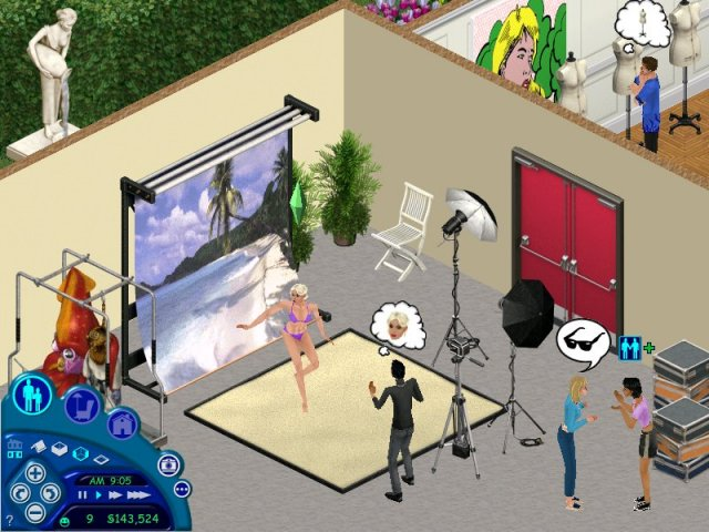 Скриншот к игре The Sims Superstar.